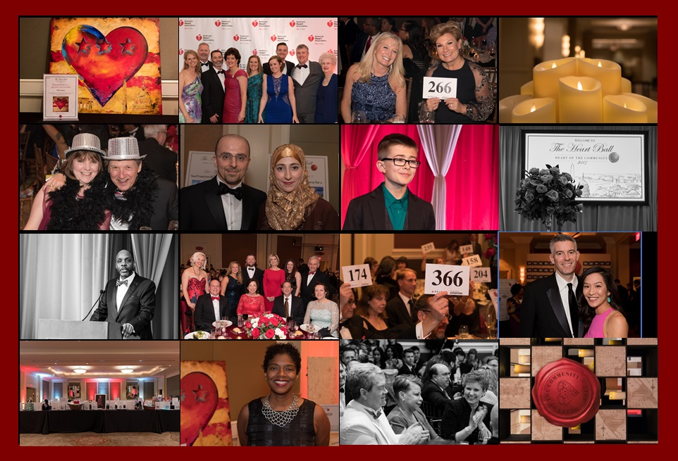 Collage of Heart Ball Pictures